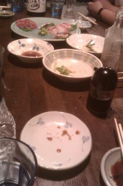 つくしのこで日本酒ぐびぐび